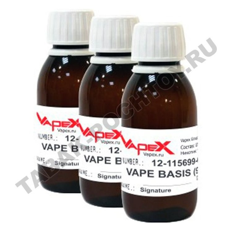 Основа Vapex - Vape Basis PG40-VG60 (100 мг, 3 мг никотина) купить в Ростове-на-Дону по цене 150 руб. - Табак Почтой